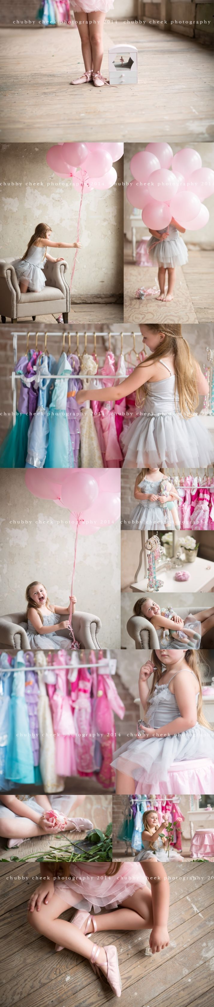 Ballerina, dress up, All About Me 5 year old session  © chubby cheek photography cypress tx child photographer