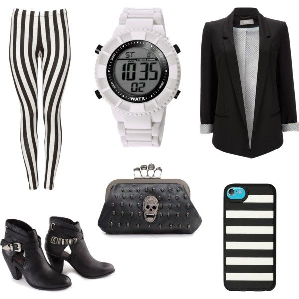 Black Stripes Look. Look rayas negras + reloj WATX.