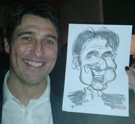 ONE OF THE LAST Company Xmas Parties of the year was for financial firm Dexion Capital. I provided caricatures at a party in the rarefied setting of Hush Bar down Lancashire Court in Mayfair.