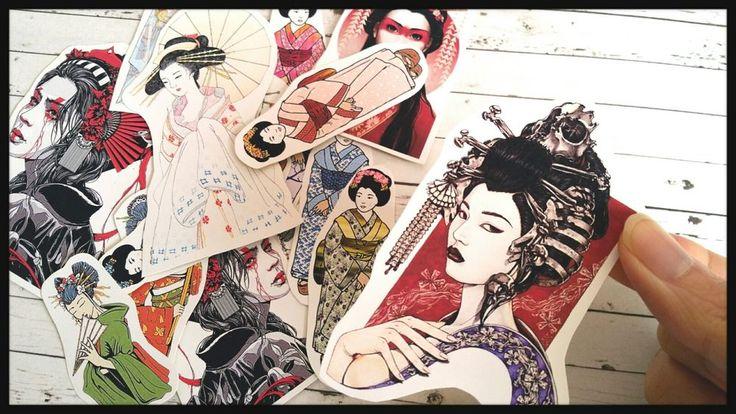 Japanese geisha Stickers,Tumblr stickers,Japanese kawaii Planner Sticker  in Crafts, Scrapbooking & Paper Crafts, Scrapbooking   eBay!