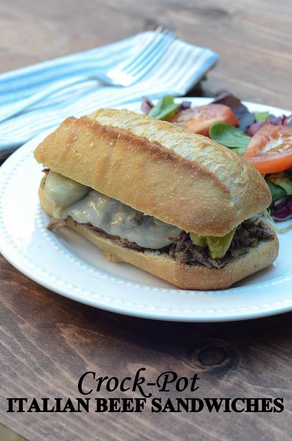 Crock-Pot Italian Beef Sandwiches (edited) TITLED by From Valerie's Kitchen, via Flickr