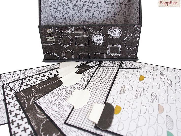Karteikartenbox A6  *Frames* von PappPier auf DaWanda.com