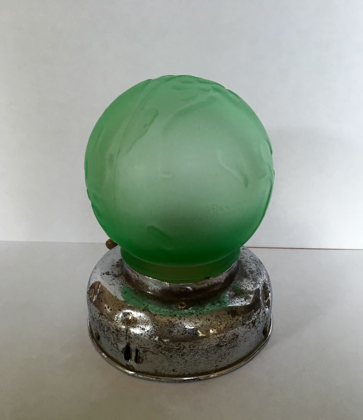 Art Deco globe lamp circa 1930.