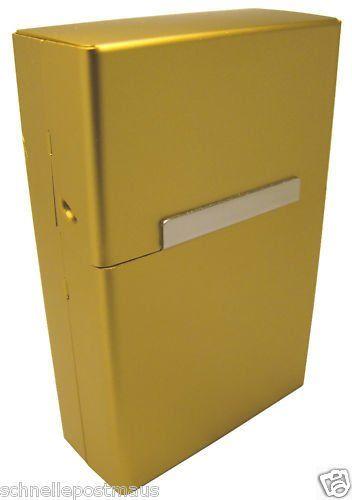 4f0e79437270e Kaltner Präsente Zigarettenbox Zigarettenetui Edel Gold. Alu Zigarettenbox   koffer rucksäcke   taschen  luggage