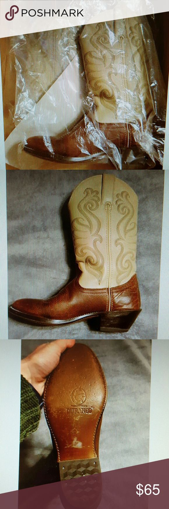Durango Cowboy Boots Durango boots size 6.5 worn once. Durango Shoes Heeled Boots