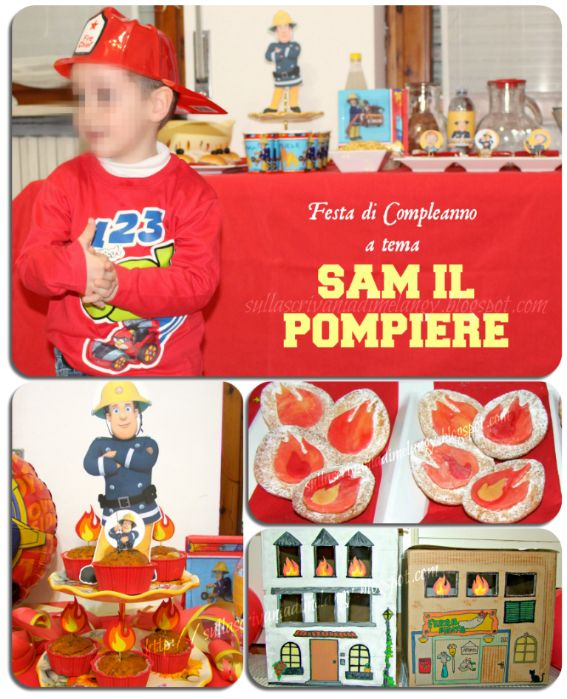 Compleanno a tema pompiere Sam