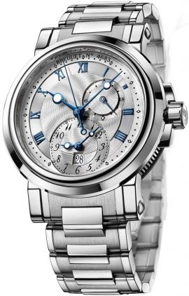 Breguet Marine II Dual Time GMT Watch 5857ST12SZO