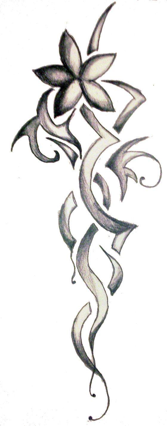 tribal Flower Tattoo Drawings | lotus tattoos flower tattoos