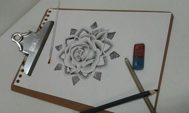 Rose dotwork