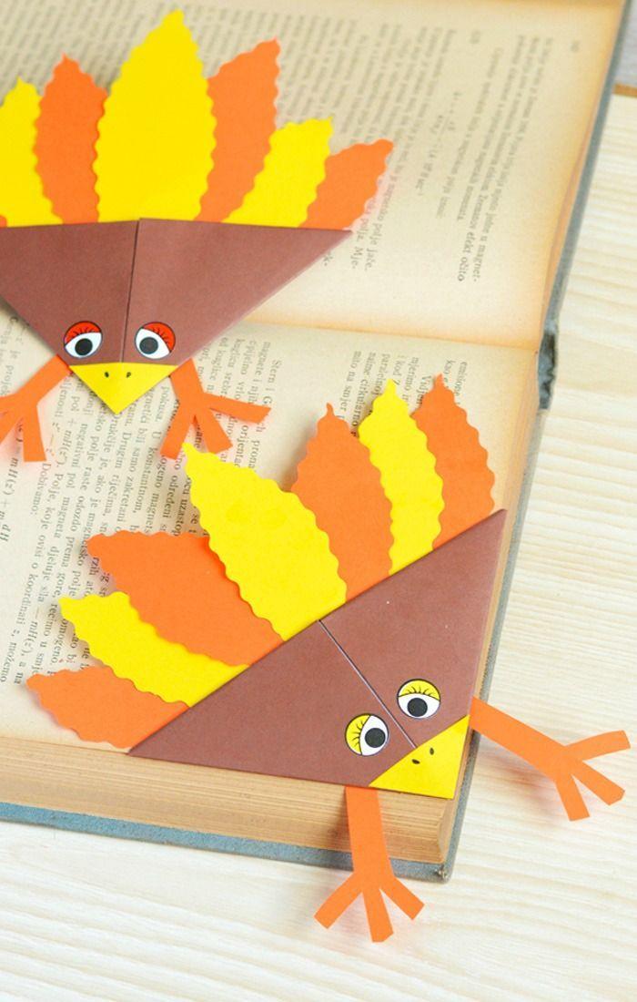 Turkey Corner Bookmarks 1370 best Fall Crafts