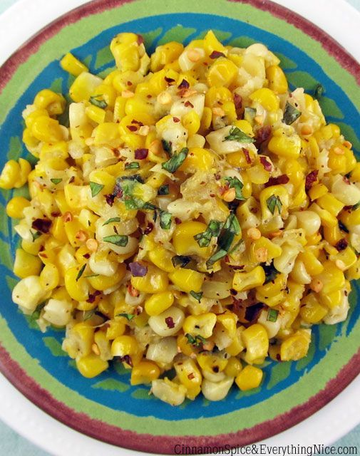 Corn with Chile, Garlic and Ginger