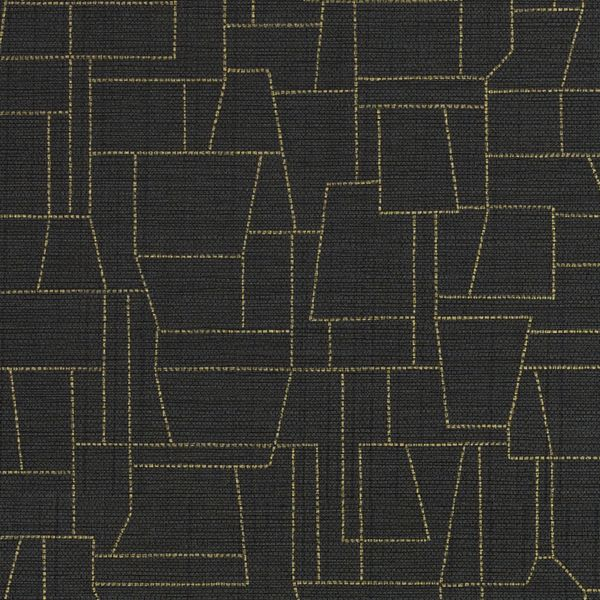DN2-ZTO-09 | Yellows | Blacks | Levey Wallcovering and Interior Finishes: click to enlarge