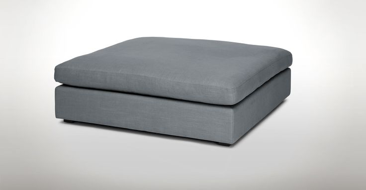 Cube Thunder Gray Ottoman - Sectionals - Article | Modern, Mid-Century and Scandinavian Furniture