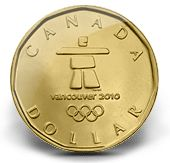 Loonie - 2010 Anniversary Vancouver Olympic Games