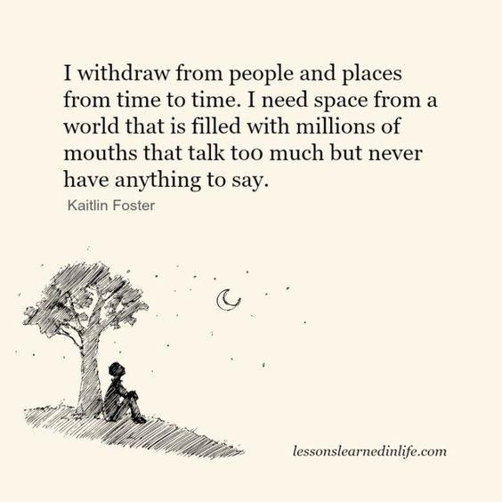 I need deep conversations, not blah, blah.