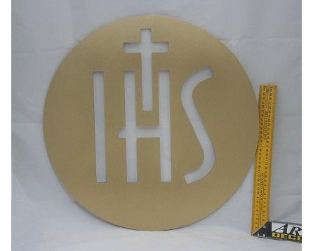 Złota Hostia JHS 50 cm (PCV) - Pierwsza Komunia, Boże Ciało, dekoracje - ARQ - DECOR | Pracowania Dekoracji ARQ DECOR