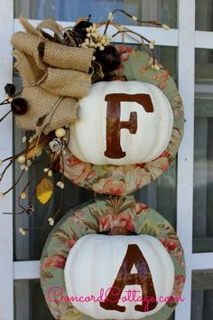 Fall Pumpkin Wreath W Dollar Store Items - Today I'm sharing my new Fall Wreath I made with Dollar Store items for under $7. I'm not kidding. I made one last ye…