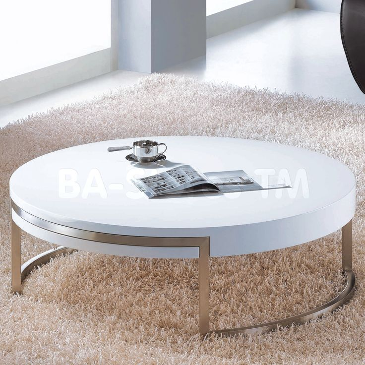 100 Round White Gloss Coffee Table Cool Modern Furniture Check More At Http