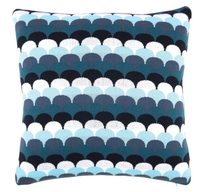Shell Knit 50x50cm Filled Cushion Capri | Manchester Warehouse