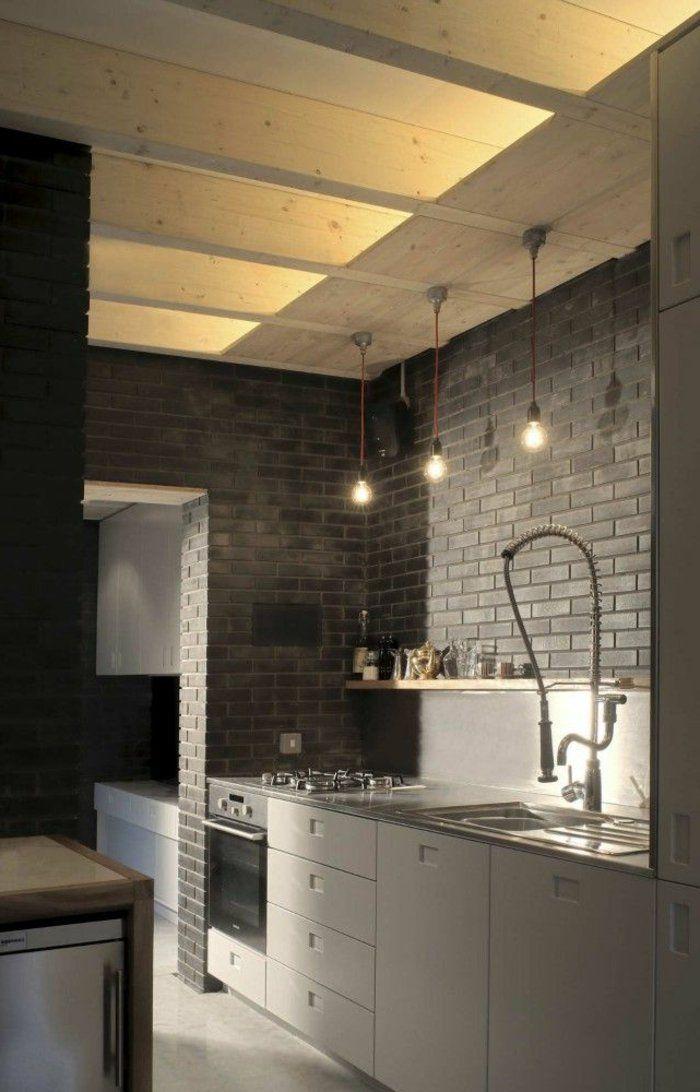 eclairage indirect pour la cuisine d'esprit loft