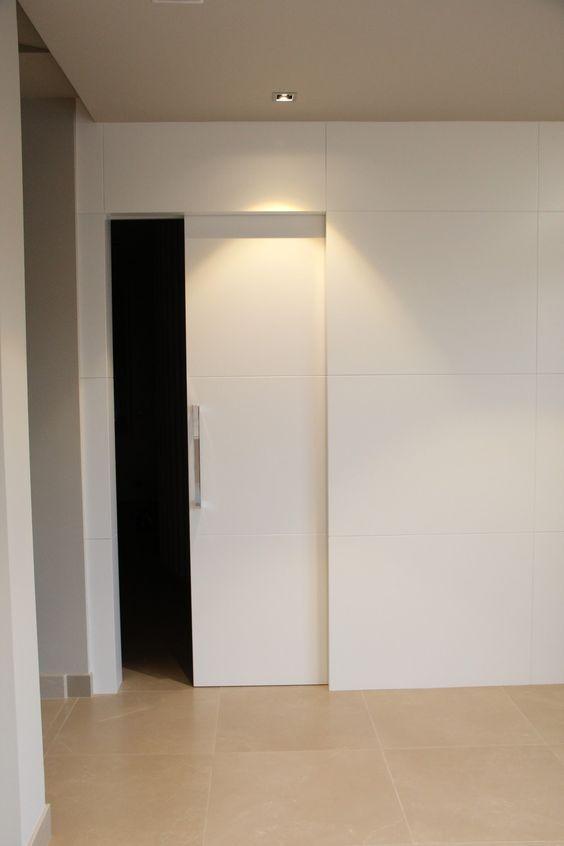 M s de 25 ideas incre bles sobre puertas correderas en - Puerta corredera empotrada ...
