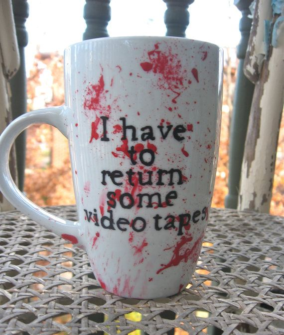 American Psycho Tall Mug by TeapotRobot on Etsy, $8.00