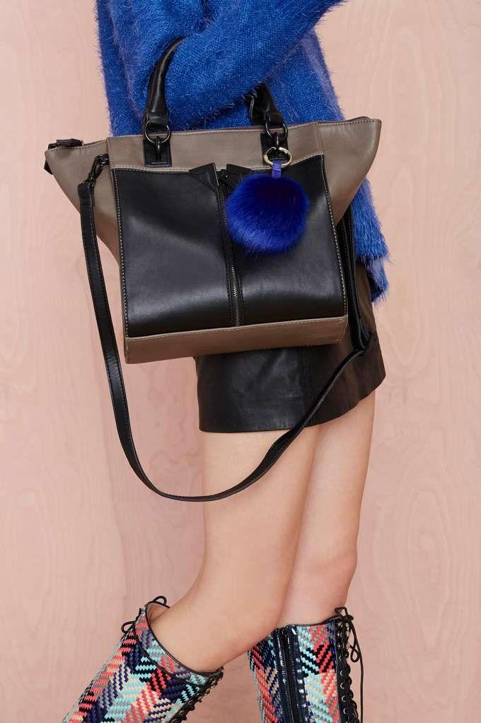 Fur Good Luck Faux Fur Keychain - Bags + Backpacks