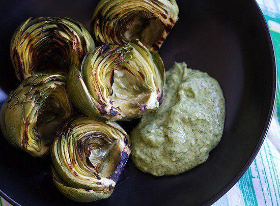 Savory Sight: Grilled Artichoke With Lemon Jalapeño Aioli