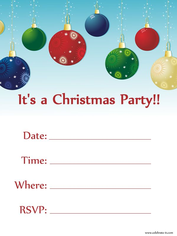 Holiday Party Invitations Free Christmas Invitations Free Printable  Free Xmas Invitations
