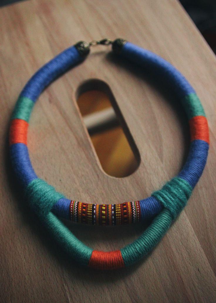 tribal ethnic statement necklace