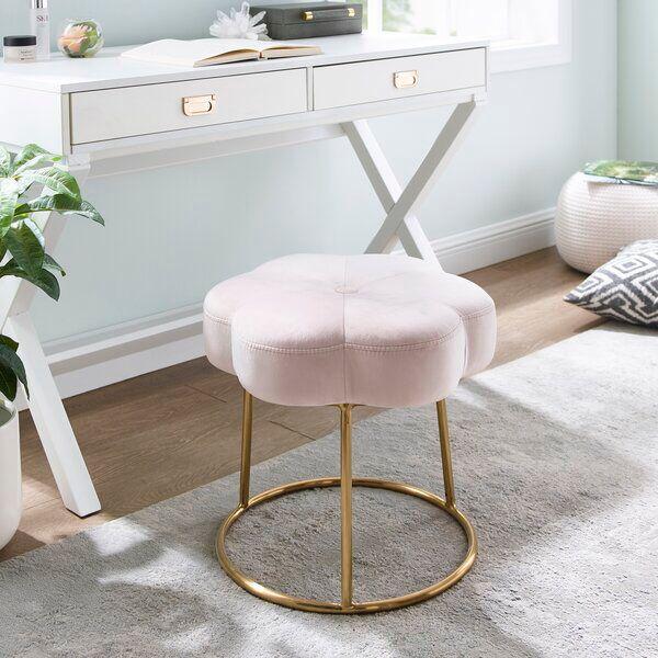 Burkart Metal Vanity Stool In 2020 Vanity Stool Acrylic Chair Vanity Bathroom Vanity Stool