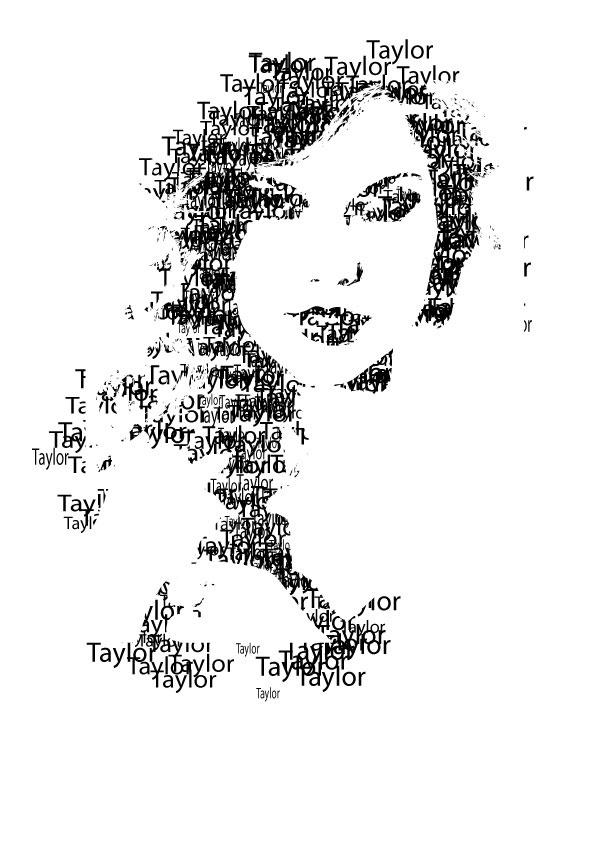 Taylor Swift typed based portrait