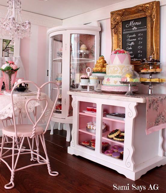 Sami Says AG  American Girl Doll House  Samanthau0027s Ice Cream Parlor U0026 Bakery