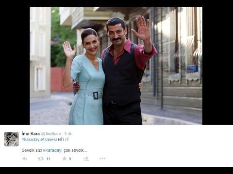 Karadayı dizisinin final yayını twitter paylaşımları #karadayıefsanesi