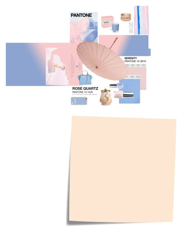 """PANTONE : Rose Quartz & Serenity"" by silviadarma on Polyvore featuring art"