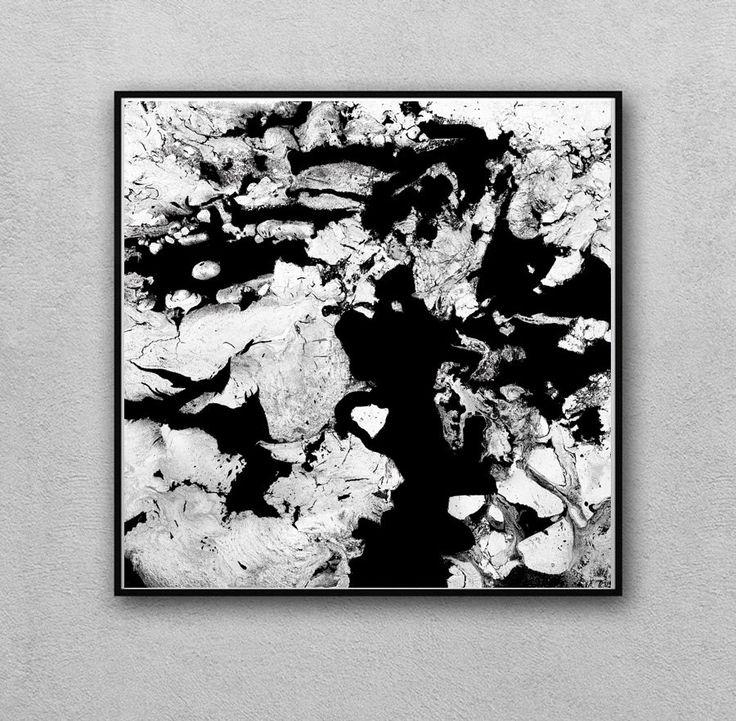 #45inch, #BlackandWhite #Art, #Abstract, #WallArt, #AbstractPainting, #LargeWallArt, #JuliaApostolova, #BlackWhite  #Print, '' #Moonlight #Sonata'' by #ArtistJuliaApostolova on #Etsy