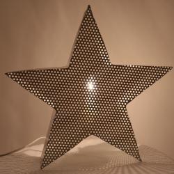 Lampa stjärna metall - creme