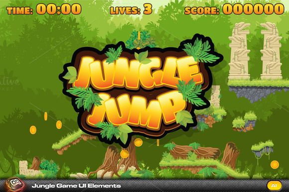 Jungle Jump Game elements by quicky on @creativemarket