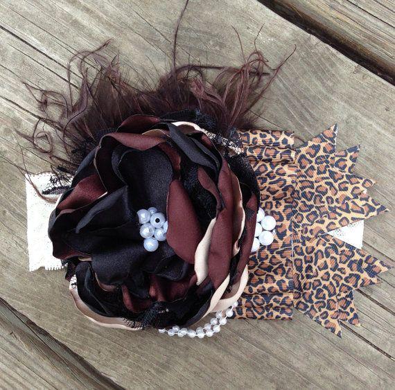 Cheetah Vintage headband  on Etsy, $19.99