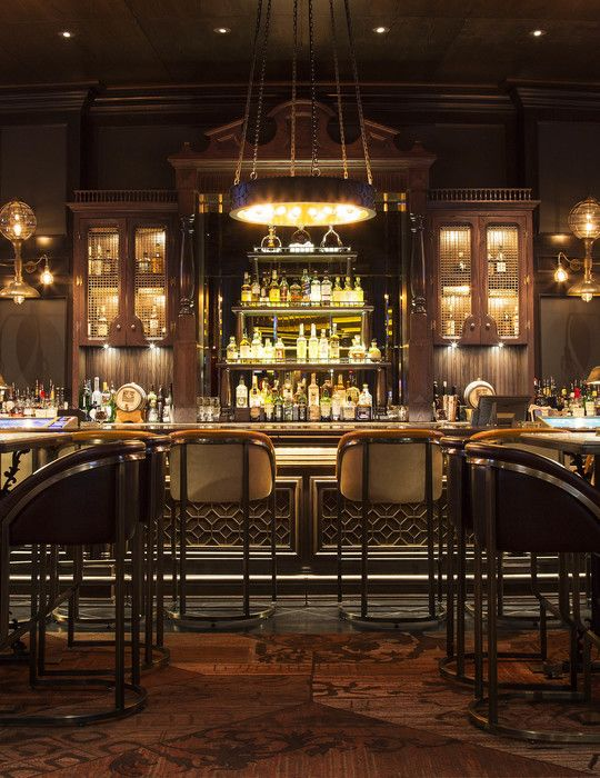 Whiskey Down bar, United States, by Munge Leung. _Sports bar, speakeasy bar, rich colours