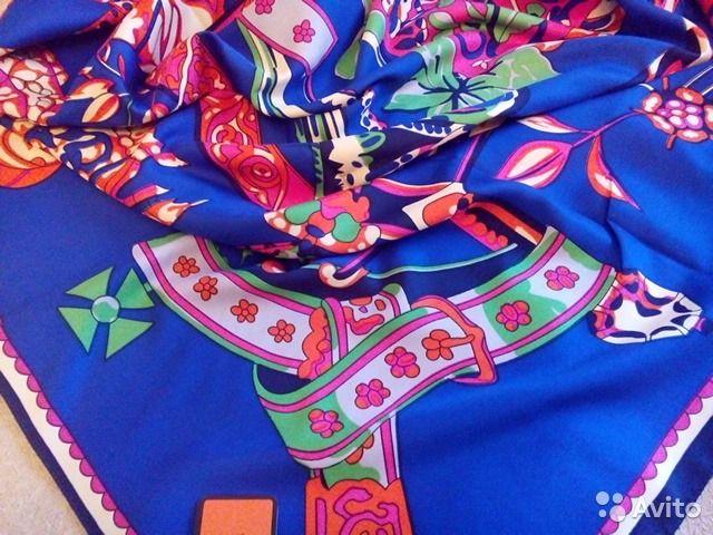 Новый платок Hermes, шелк 140х140— фотография №1