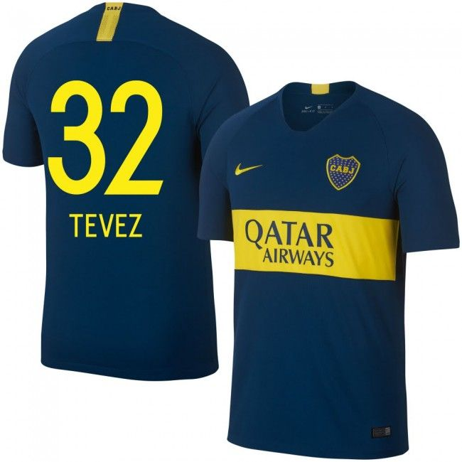 a9966c46a808f Boca Juniors 2018-2019 Tevez 32  Home  Local  Titular  Domicile ...
