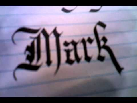 Insane & Easy DIY Calligraphy Lesson Part 1 - Gothic & Chancery - Write & Draw now!  Tutorial