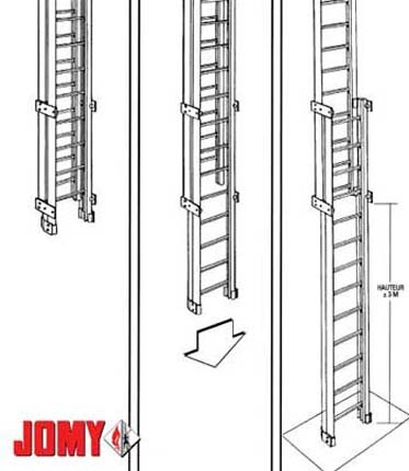 Safety Retractable Ladder, Pole Ladder, Alluminum Staircases by Jomy