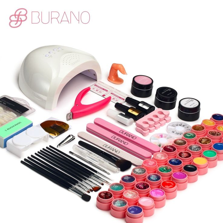 54.9$  Watch now - BURANO 48W UV LED Nail lamp 25 LEDs Nail dryer & 36 colors uv gel Nail polish Art Tools nail Set Kit base gel top coat building   #magazineonline