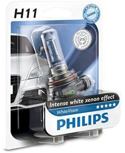 Philips 12362WHVB1 Whitevision Ampoule Automobile Effet Xénon 4300K H11 12V 55W: Les lampes Philips WhiteVision offrent à votre éclairage…