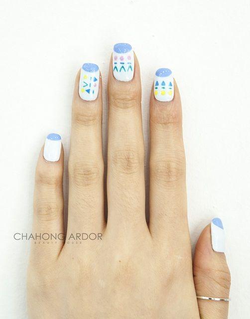 Pastel blue #nailart #nail #beauty #chahongardor