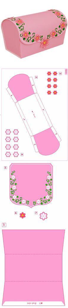 Розовый сундучок / Поделки из бумаги / Другие поделки из бумаги и картона