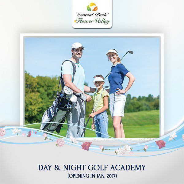 Drive your way to Day & Night Golf Academy opening in Jan 2017 at Flower Valley Sector 32-33 South of Gurgaon. #centralparkflowervalley