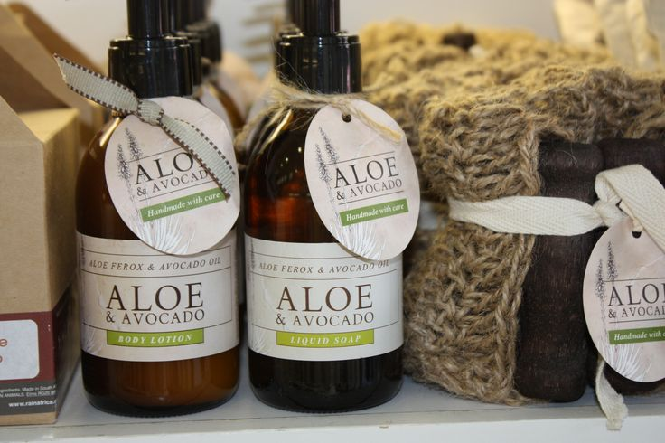 Aloe & Avocado Eco-friendly products available at Rain in Willowbridge